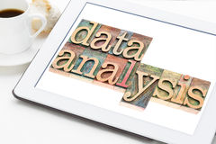 Data analysis on digital tablet Royalty Free Stock Photography