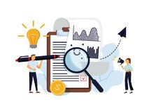 Free Data Analysis Education, Economic Literacy Internet Courses. Business Workflow, Business Process Efficiency, Working Activity Royalty Free Stock Images - 194523559