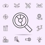 Data analysis icon. Universal set of web mix for website design and development, app development. On color background vector illustration
