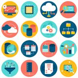 Data analysis icons Royalty Free Stock Images