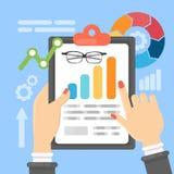 Data analysis illustration. Royalty Free Stock Photos
