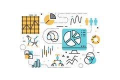 Data analysis illustration Royalty Free Stock Photos