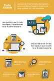 Data analysis infographic. Concept with elements vector illustration graphic design Royalty Free Stock Image