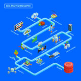 Data Analysis Infographic Isometric Flowchart Royalty Free Stock Photo