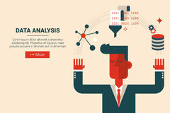 Data analysis research concept Stock Images
