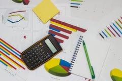 Data analysis. Shoot of  Business data analysis and Charts Stock Photos