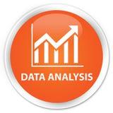 Data analysis (statistics icon) premium orange round button Royalty Free Stock Photos