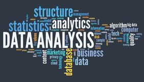 Data analysis tag cloud Stock Photos