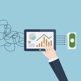 Data analysis to money. Stock Photos