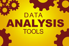 Data analysis tools concept Royalty Free Stock Image