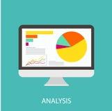 Data analysis. Vector icon data analysis business Royalty Free Stock Photos