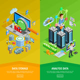 Data Analysis 2 vertical Isometric Banners Stock Images