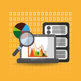 Data analysis website finance statistics server. Vector illustration Stock Photo