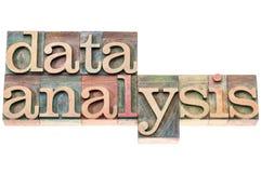 Data analysis in wood type Stock Photos