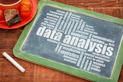 Data analysis word cloud Stock Photo