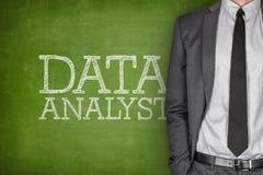 Data analyst on blackboard Stock Photos