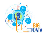 Data analytic and big data concept vector illustration Stock Photography