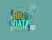 Data analytic and big data concept vector illustration Royalty Free Stock Photo