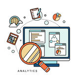 Data analytic concept Stock Images