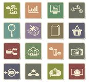 Data analytic icon set. Data analytic  icons for user interface design Stock Photography