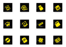 Data analytic simply icons. Data analytic icons set for web sites and user interface Stock Photography