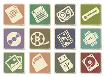 Data analytic simply icons Stock Images