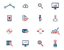 Data analytic simply icons Stock Image