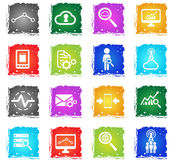 Data analytic simply icons Stock Photo