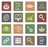 Data analytic simply icons Royalty Free Stock Photo