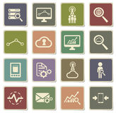 Data analytic simply icons Stock Photography