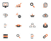 Data analytic simply icons Stock Photos