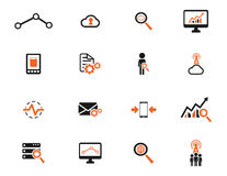Data analytic simply icons Royalty Free Stock Image