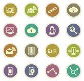 Data analytic and social network icons Stock Images