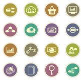 Data analytic and social network icons Royalty Free Stock Image