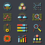 Data Analytic Web Site Server Icons  on Stylish Royalty Free Stock Images