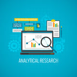 Data and analytical research icon stock illustration