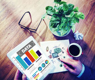 Data Analytics Chart Performance Pattern Statistics Information Royalty Free Stock Photos