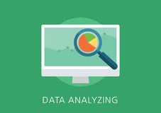 Data analytics concept flat icon Stock Photography