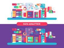Data analytics design flat Royalty Free Stock Images