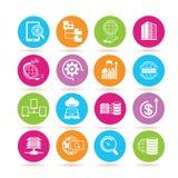 Data analytics icons Stock Images