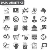 Data analytics icons Stock Photos