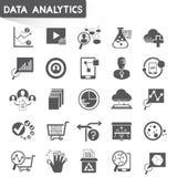 Data analytics icons Stock Photos