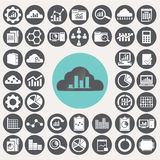 Data Analytics icons set. Royalty Free Stock Photos