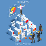 Data Analytics People Isometric Stock Photo