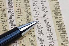 Data analyzing Royalty Free Stock Photo