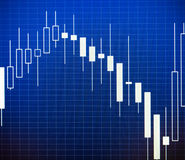 Data analyzing in forex market: the charts and quotes on display Royalty Free Stock Photos