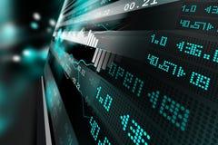 Data analyzing in stock market. Digital illustration of Data analyzing in stock market in color background Royalty Free Stock Photography