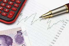 Data analyzing in stock market or others Stock Photos