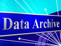 Data Archive Represents Bytes Computer And Information Stock Images