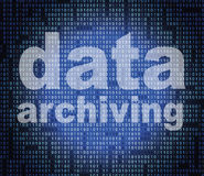 Data Archiving Means Catalog Catalogue And Bytes Royalty Free Stock Image